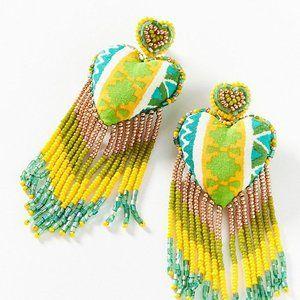 Anthropologie Deepa Passion Heart Drop Earrings